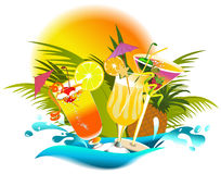Bebidas tropicais Imagem de Stock