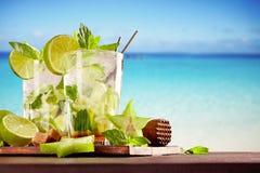 Bebidas tropicais Foto de Stock Royalty Free
