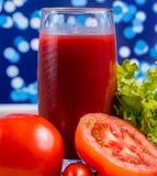 Bebidas vegetais de Juice Means Thirsty Drink And do tomate imagens de stock royalty free