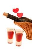 Bebidas y amor Foto de archivo