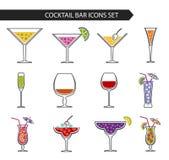 Bebidas y cócteles del alcohol Fotografía de archivo libre de regalías