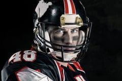 Bebouwd beeld van Amerikaanse voetballer Royalty-vrije Stock Afbeeldingen