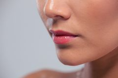 Bebouwd beeld van vrouwelijk gezicht Stock Afbeeldingen