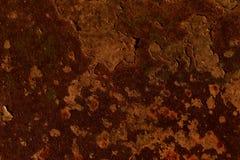 Bebouwd schot van een metaal oude oppervlakte met roestvlekken en corrosie royalty-vrije stock afbeeldingen