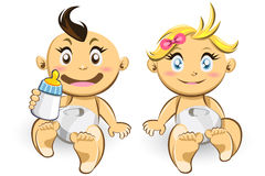 Bebés y muchachas Fotos de archivo