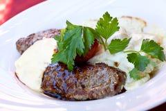 bec αλμυρά λαχανικά λουρίδων μπριζόλας κόντρων φιλέτο Στοκ εικόνα με δικαίωμα ελεύθερης χρήσης