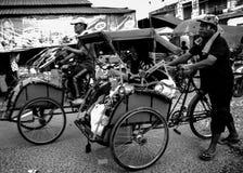 Becak asli印度尼西亚 免版税库存图片