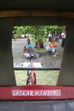 Becak, indonesian traditional trishaws Stock Image