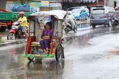 Becak in Makassar, Sulawesi, Indonesia Royalty Free Stock Image