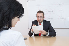 became hysterical interview job one them Στοκ Εικόνες