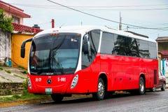 Beccar B330. COATZACOALCOS, MEXICO - JUNE 2, 2017: Interurban coach Beccar B330 in the city street Stock Photos