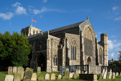 BECCLES, SUFFOLK/UK - 23. MAI: St- Michael` s Gemeinde-Kirche in BEC stockfotografie