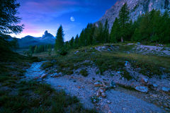Becco di Mezzo mystical landscape of mountain Royalty Free Stock Images