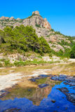 Beceite river Ulldemo in Teruel Spain. At Matarrana area stock photography