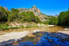 Beceite river Ulldemo in Teruel Spain. At Matarrana area royalty free stock photos