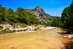 Beceite river Ulldemo in Teruel Spain. At Matarrana area stock photos