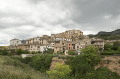 Beceite from the road. In Teruel, Aragon, Spain Stock Photography