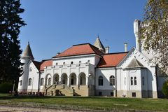 Old castle of tradiotinal Dundjerski family, Serbia. royalty free stock image