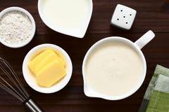 Bechamel francés o salsa blanca foto de archivo