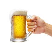 Becher Bier Stockfoto