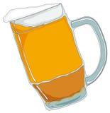 Becher Bier. Getrennt auf Weiß. Lizenzfreies Stockbild