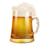 Becher Bier mit Schaum Lizenzfreie Abbildung