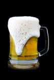 Becher Bier mit Schaum Lizenzfreie Stockfotos