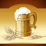 Becher Bier Schäumendes Bier oktoberfest stock abbildung