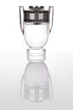 Becher hergestellt vom Glas und vom Silber Stockfotografie