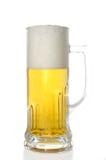 Becher mit Bier Stockfoto