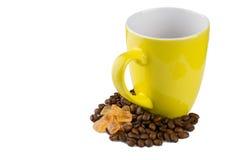 Becher mit Kaffee und Zucker Lizenzfreies Stockbild