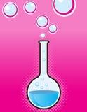 Becher scientifique avec des bulles. Photo libre de droits