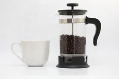 Becher- und Kaffeetopf Lizenzfreie Stockfotos