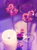 Becher und Kerze Lizenzfreies Stockbild