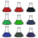 Bechers de la Science Images libres de droits