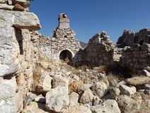 Bechin in Milas Turkey. Ancient ruins in Bechin city Milas Turkey Royalty Free Stock Images