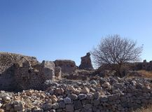 Bechin in Milas Turkey. Ancient ruins in Bechin city Milas Turkey Royalty Free Stock Photography