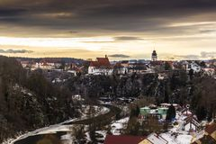 Bechyne city, Czech Republic stock photo