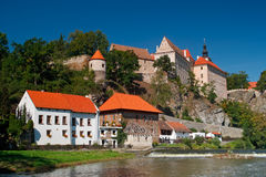 Bechyne, czech todl town, Castle and Chateau in the South Bohemian. Bechyne, czech todl town, Castle and Chateau Royalty Free Stock Image