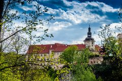 Bechyne - old city in South Bohemian region, Czech republic.  royalty free stock photography