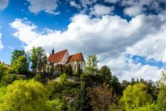 Bechyne - old city in South Bohemian region, Czech republic.  royalty free stock images