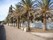 Becici Budva Montenegro kostnaden royaltyfri fotografi