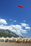 becici montenegro пляжа Стоковые Изображения RF