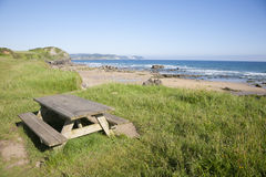 Beciella beach in Asturias Stock Images