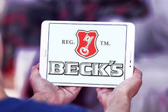 Beck`s beer logo Royalty Free Stock Images