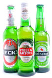 Beck's Heineken Stella Artois Royalty Free Stock Photos