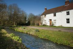 The Beck, Tealby Thorpe, Lincolnshire, UK. Stock Images
