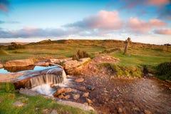 Beckamoor Cross on Dartmoor Royalty Free Stock Images