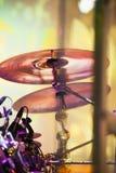 Becken in der Trommel eingestellt auf ein Stadium Lizenzfreie Stockfotos