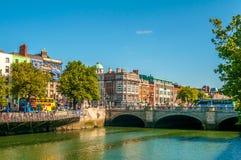 beckett bridżowa Dublin Ireland liffey rzeka Samuel zdjęcia royalty free